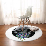 Crystal Tree Dreamy Blakc Round Rug Home Decor