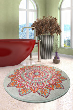 Royal Colorful Background Round Rug Home Decor