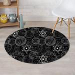 Pentagram Gothic Witch Round Rug Home Decor