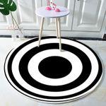 Quality 3d Visual Vortex Optical Illusions Background Round Rug Home Decor