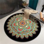 Spiritual Beautiful Colorful Modern Artistic Round Rug Home Decor