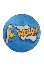 Wow! Colorful Background Round Rug Home Decor