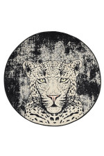 Tiger Colorful Background Round Rug Home Decor