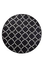 Kupa Black Colorful Background Round Rug Home Decor