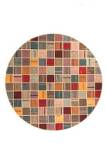 Motley Persian Hand Knotted Kilim Round Rug Home Decor