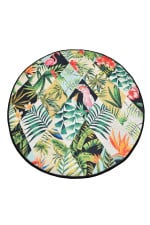 Patch Colorful Background Round Rug Home Decor