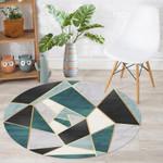 Geometric Green Modern Background Round Rug Home Decor