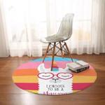 Alpaca Cartoon Colorful Funny Round Rug Home Decor