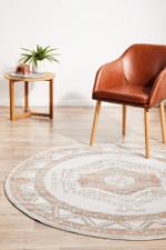 Mayfair Caitlen Natural Round Rug Home Decor