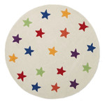 Twinkle Twinkle Star Round Rug Home Decor White