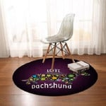 Purple Love Dachsund Cute Round Rug Home Decor