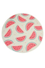 Watermelon Colorful Background Round Rug Home Decor