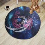 Zodiac Constellations Aquarius Illustration Round Rug Home Decor