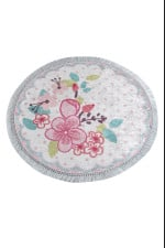 Hand Draw Flower Colorful Background Round Rug Home Decor