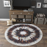 Cool Round Three Dimensional Diamond Shape Round Rug Home Decor