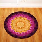 3d Traditional Vintage Geometric Illustration Round Rug Home Decor