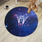 Zodiac Constellations Capricorn Illustration Round Rug Home Decor