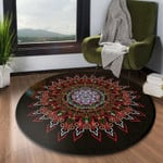 Magic Pretty Flower Watercolor Round Rug Home Decor