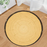Bright Wood Grain Pattern Round Rug Home Decor
