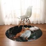 Fox Wild In The Forest Round Rug Home Decor