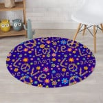 Abstract Floral Hippie Round Rug Home Decor