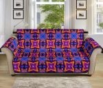 Kaleidoscope Purple And Orange Pattern Sofa Couch Protector Cover