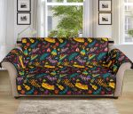 Aloha Hawaii Summer Design Themed Pattern Sofa Couch Protector Cover
