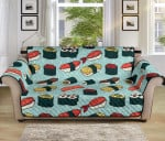 Sushi Pattern Blue Theme Sofa Couch Protector Cover
