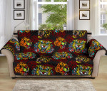 Tattoo Tiger Colorful Pattern Sofa Couch Protector Cover
