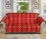 Southwest Aztec Red Pattern Sofa Couch Protector Cover