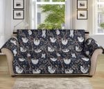 Sloth Happy Cute Pattern Sofa Couch Protector Cover