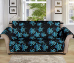 Tribal Turtle Polynesian Pattern Sofa Couch Protector Cover
