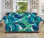 Brightness Tropical Palm Leaves Pattern Sofa Couch Protector Cover
