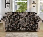 Paisley Mandala Brown Pattern Sofa Couch Protector Cover