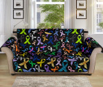 Cancer Colorful Ribbon Pattern Sofa Couch Protector Cover