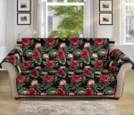 Flower Hawaiian Red Hibiscus Tropical Pattern Sofa Couch Protector Cover