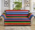 Colorful Serape Horizontal Stripe Pattern Sofa Couch Protector Cover