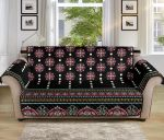 Ethnic Black Dot Style Pattern Sofa Couch Protector Cover