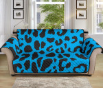 Cheetah Black And Blue Sofa Couch Protector Cover