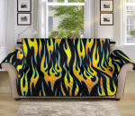 Flame Fire Yellow Pattern Sofa Couch Protector Cover