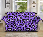 Leopard Purple Skin Pattern Sofa Couch Protector Cover