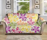 Flower Power Colorful Pattern Sofa Couch Protector Cover