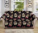 Sugar Skull Pink Bowl Pattern Sofa Couch Protector Cover
