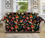 Skull Roses Flower Floral Pattern Sofa Couch Protector Cover