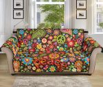 Flower Power Peace Colorful Pattern Sofa Couch Protector Cover