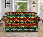 Kente Red African Pattern Sofa Couch Protector Cover