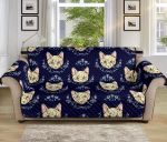 Cat Head With Flower Cute Funny Pattern Sofa Couch Protector Cover