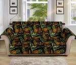 Cool Summer Aloha Hawaii Time Design Themed Pattern Sofa Couch Protector Cover