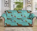 Dachshund Paw Decorative Cute Pattern Sofa Couch Protector Cover