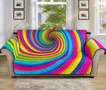 Vortex Twist Swirl Rainbow Pattern Sofa Couch Protector Cover